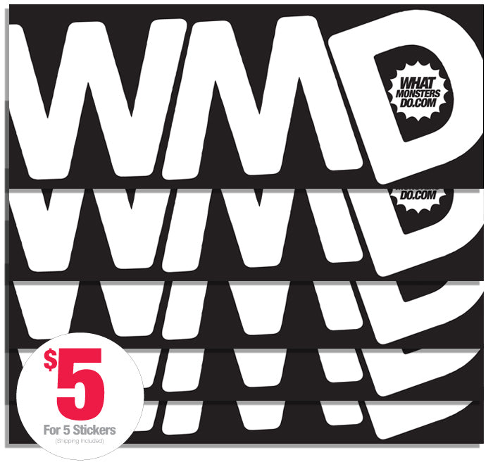 What Monsters Do Black Vinyl Stickers