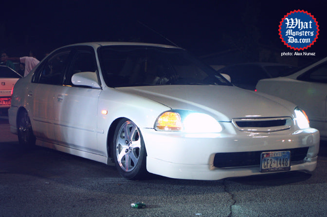 four door 1999 Honda civic slammed