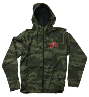 Team Yuro Nylon Water Resistant Track Zip Hooded Jacket