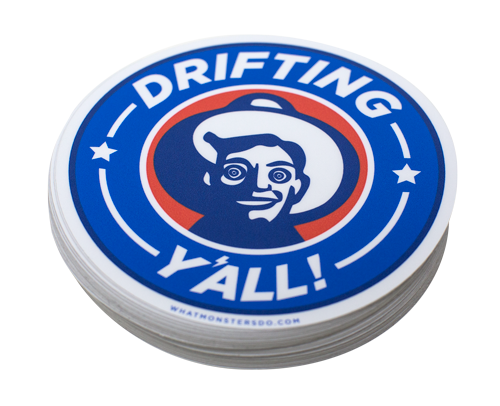 "Drifting Y'all Sticker (one 5"" sticker)"