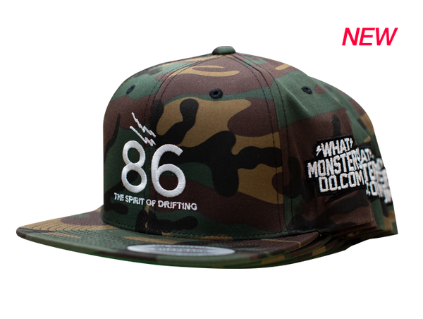 86 Spirit of Drifting Camo Snapback