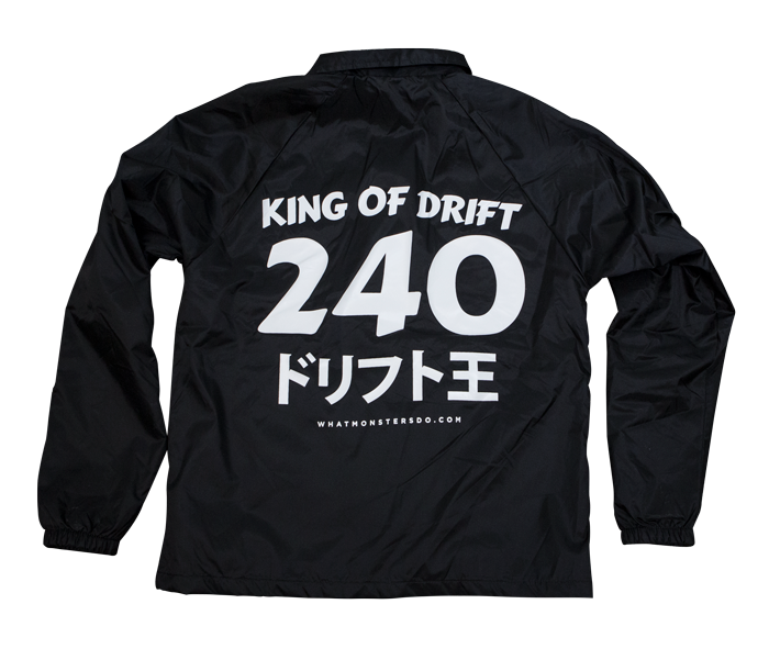 King Of Drift 240 Nylon Water Resistant Track Jacket