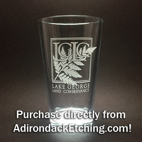 Etched Pint Glasses and Stemless Wine Glasses