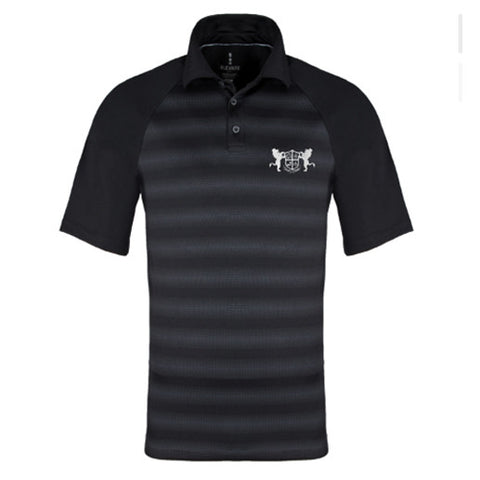 Men's Alpha Stripe Polo Shirt with Embroidered Lions
