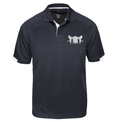 Men's Alpha Navy Performance Polo with Accent