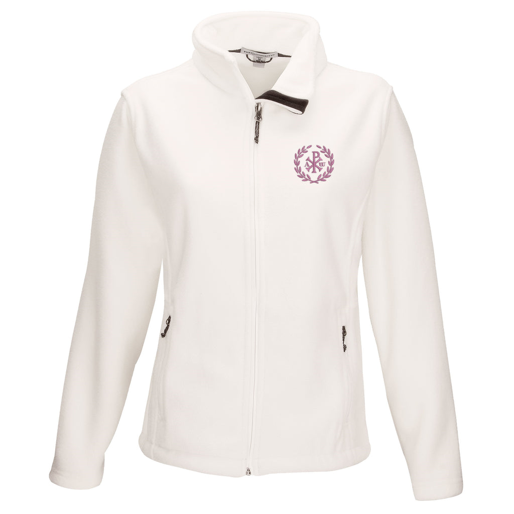 Women's Snow White Soft Touch Fleece with Christogram