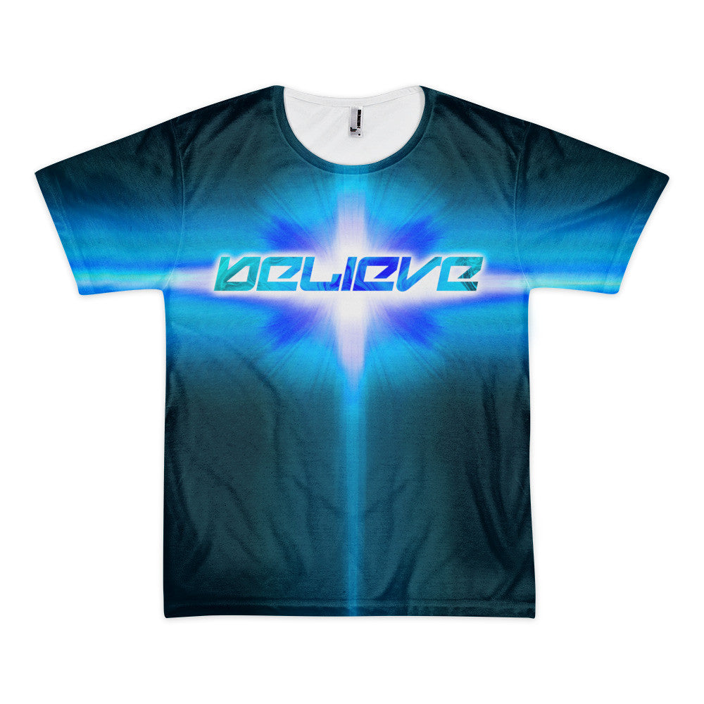 "Exclusive ""Believe"" Short Sleeve T-Shirt"