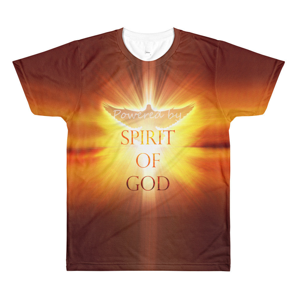 Powered by Spirit of God Full Sublimation Men's Crewneck T-Shirt
