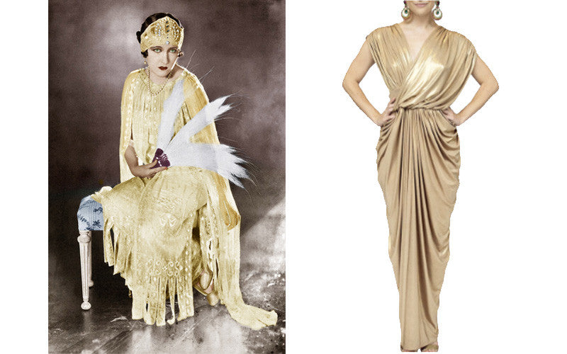 1920s Golden Goddess Look with Gloria Swanson