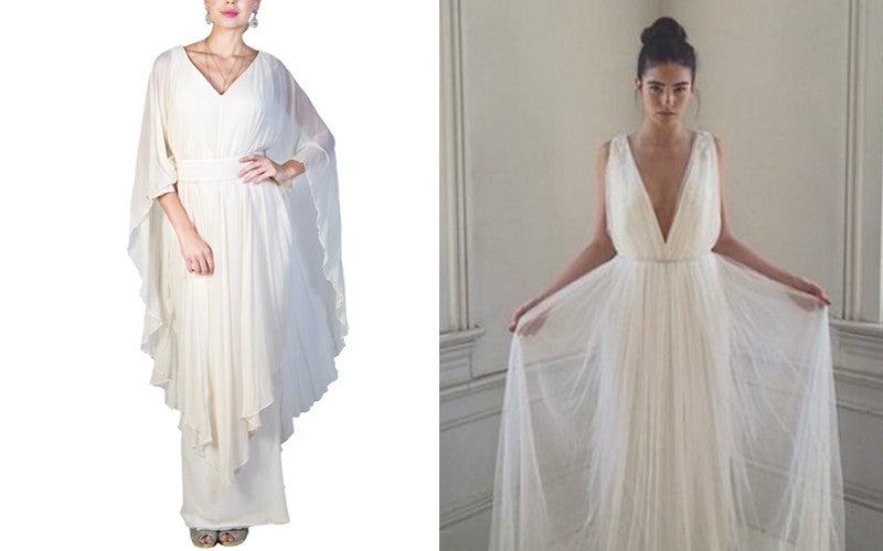 All White Outfits - Greek Goddess Style