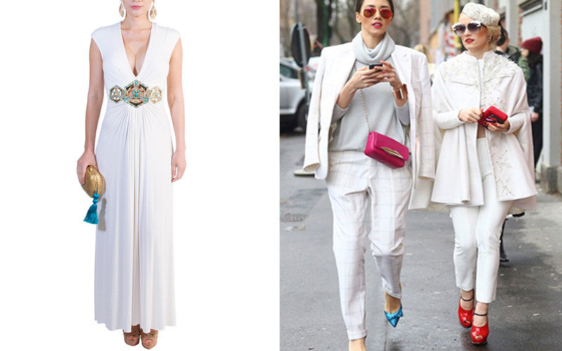 All White Outfits with Bold Accessories