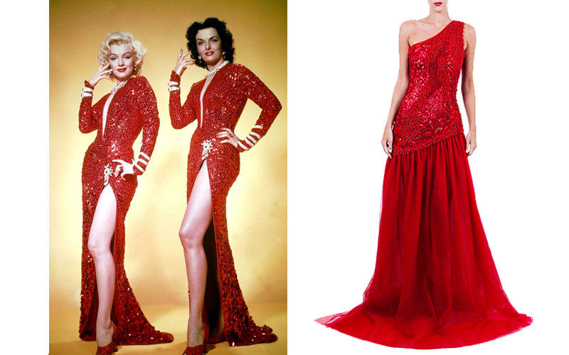 1930s Racy Red Dress with Marilyn Monroe