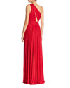 Pleated One-Shoulder Gown