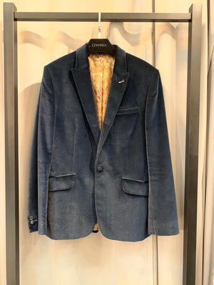 Men Navy Glitter Jacket