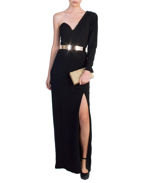 Elegant One-Shoulder Evening Gown - Bariano - Covetella Dress Rentals