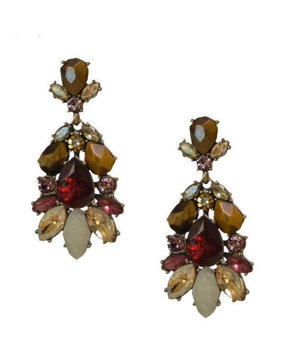 Antique Gemstone Earrings