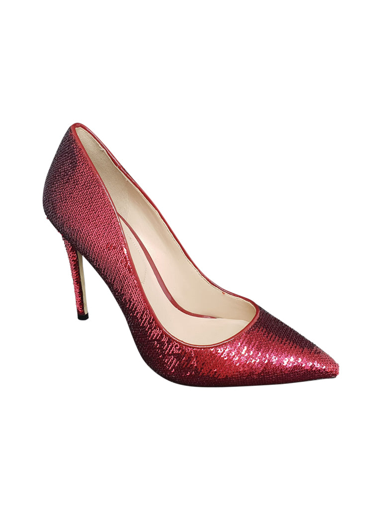 Red Sequin Stilettos