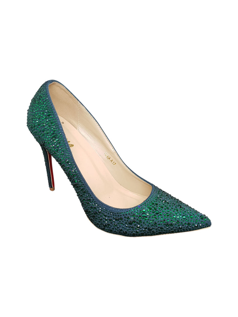 Green Sequin Stilettos