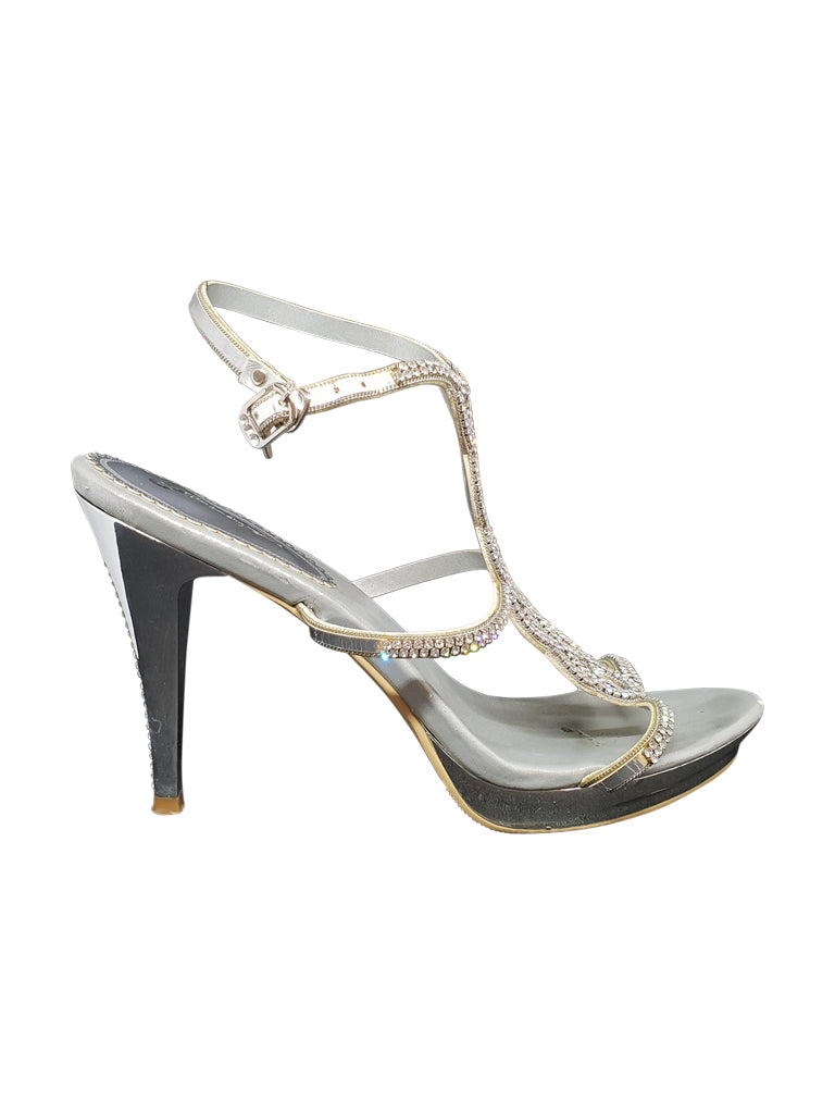 Silver Crystal Heels - Covetella - Covetella Dress Rentals
