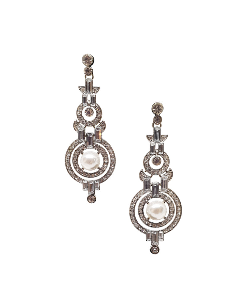 Pearl Crystal Earrings