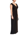 V-Neck Ruched Gown