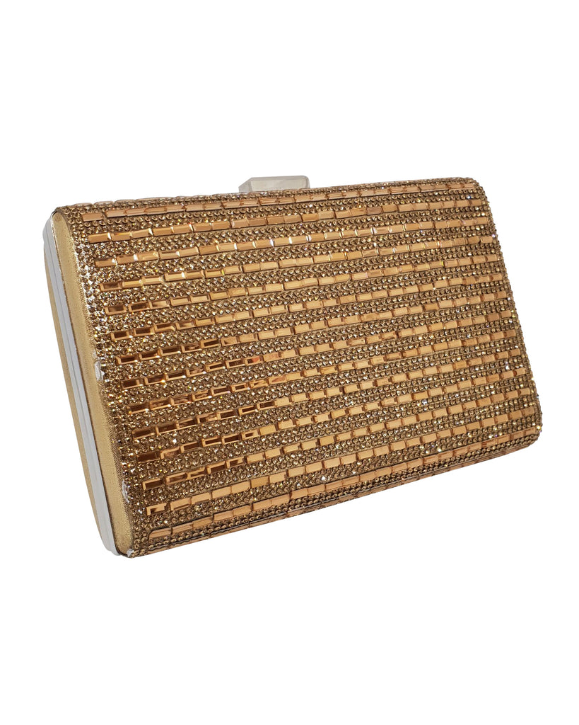 Gold Square Clutch