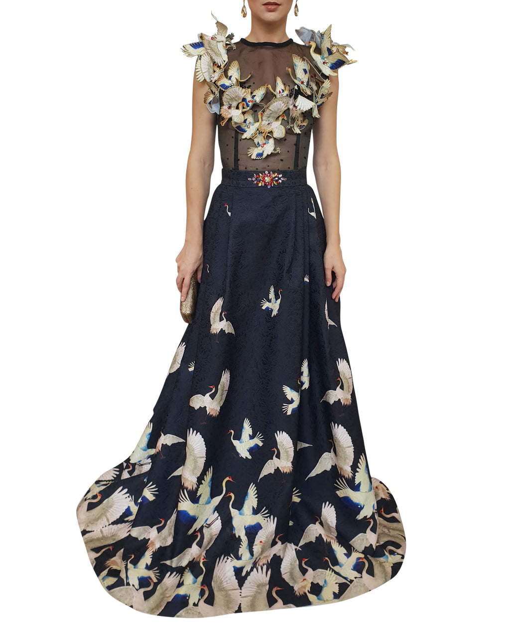 Sleeveless Bird Gown