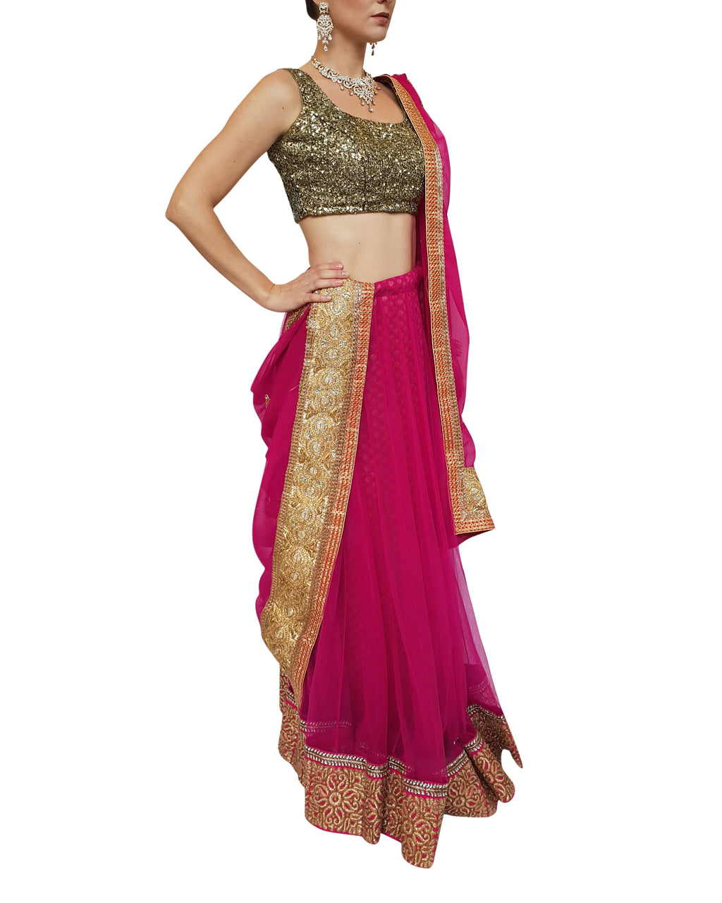 Two-Piece Indian Lehenga
