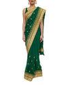 Green Readymade Saree