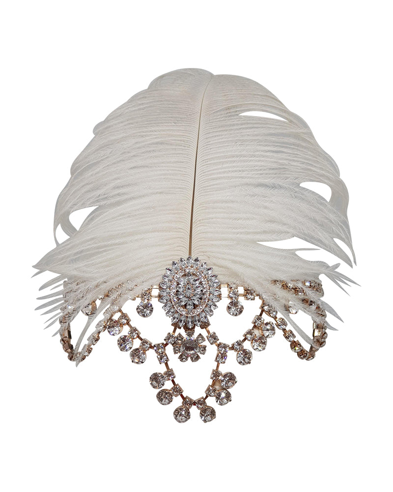 White Feather Gatsby Headband