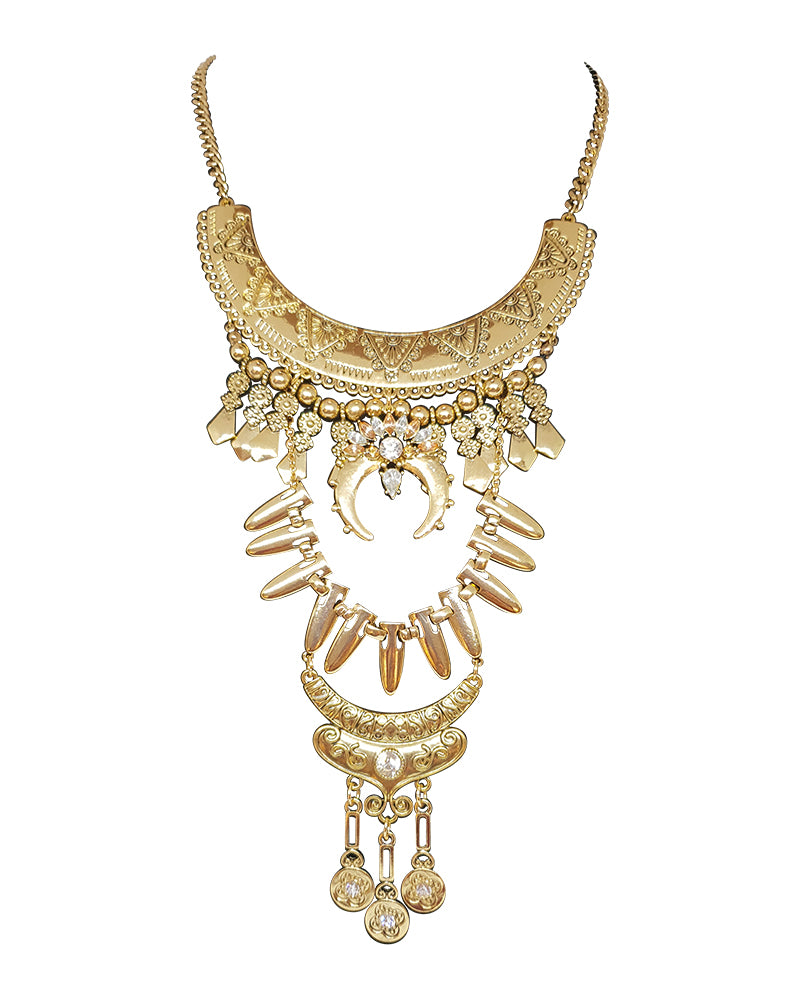 Antique Gold Long Necklace