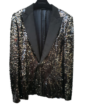 Black & Silver Sequin Blazer