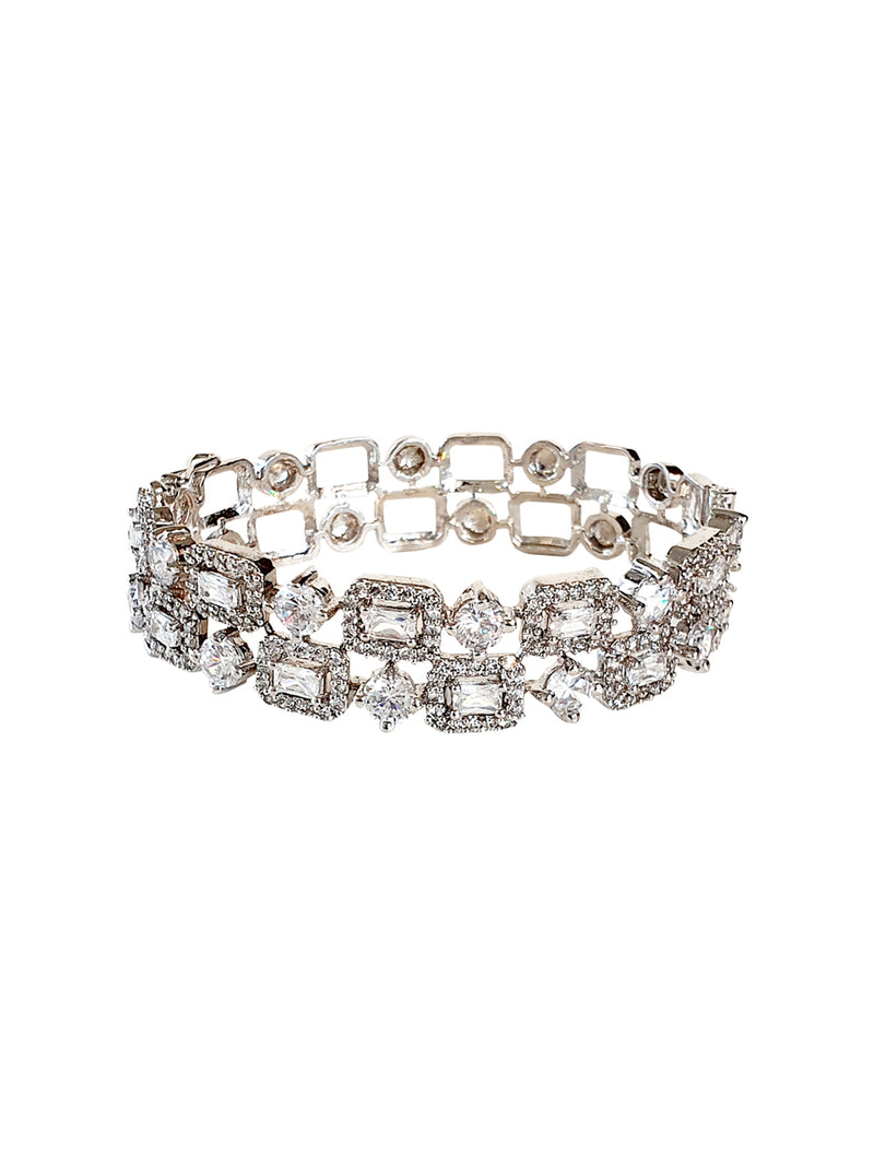 Crystal Patterned Bracelet