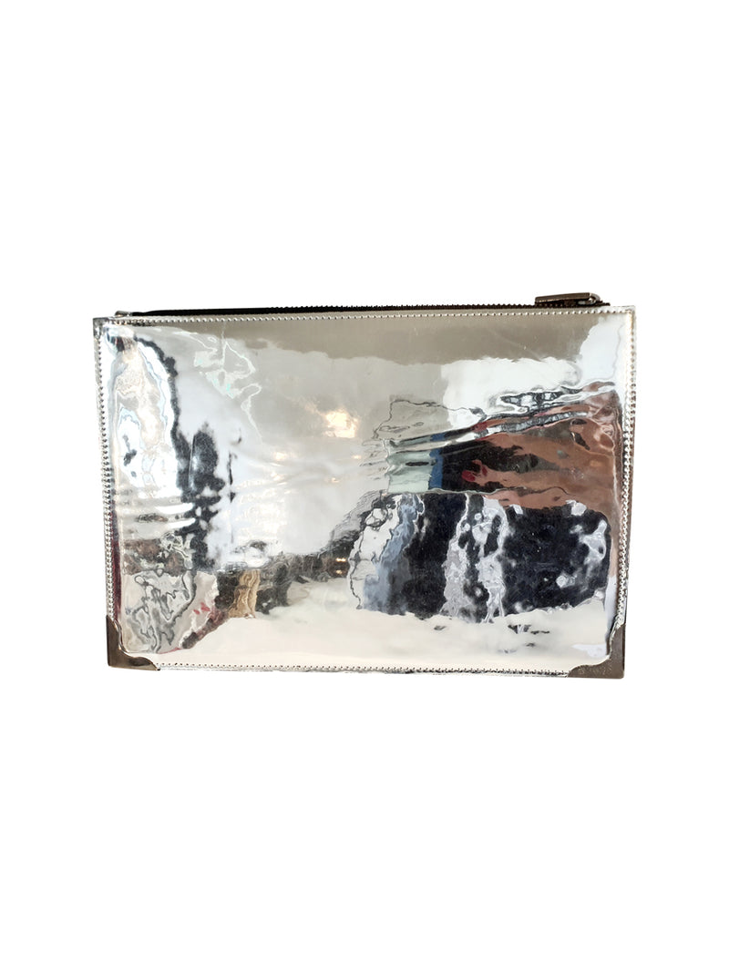 Silver Mirrored Clutch