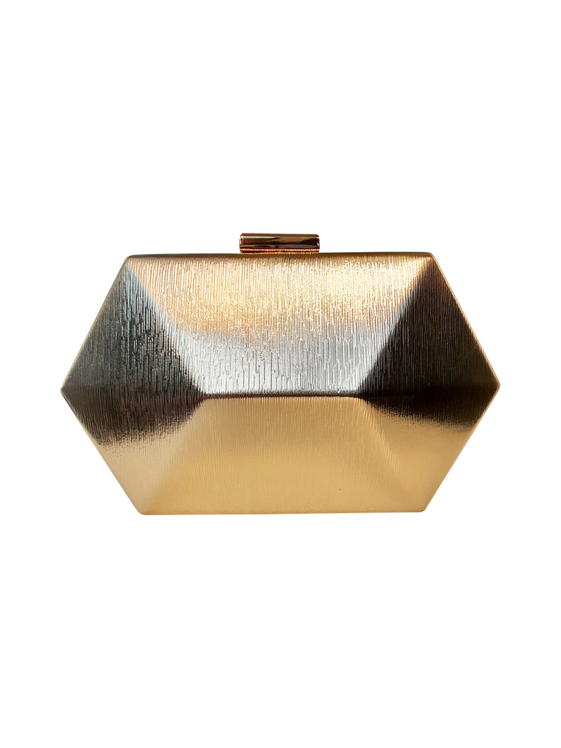 Hexagon Gold Clutch