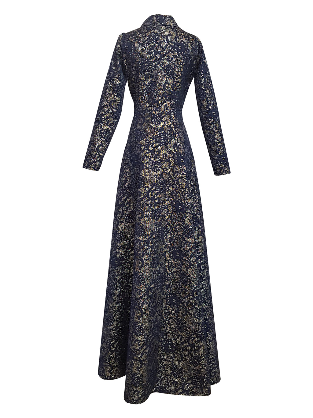 Jacquard Evening Gown
