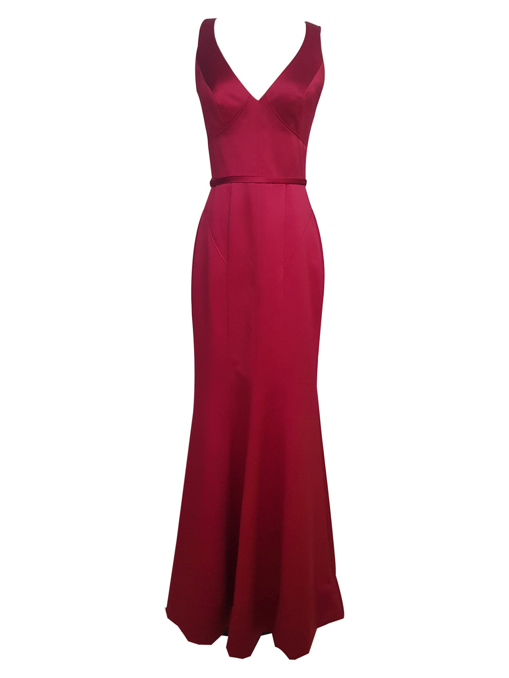 Paneled V-Neck Mermaid Gown