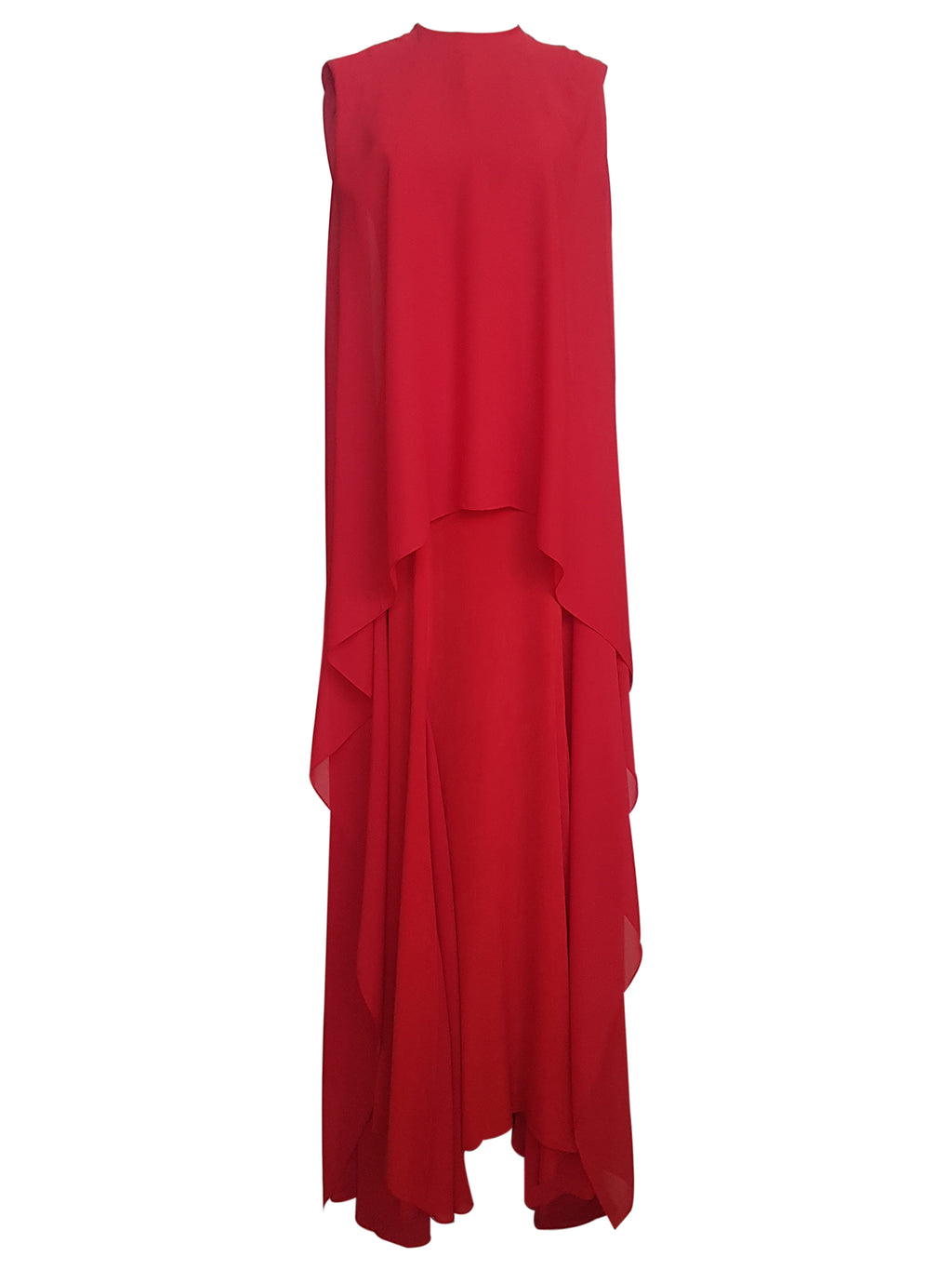 Draped Layered Gown