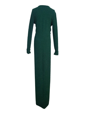 Emerald Green Long Sleeve Gown