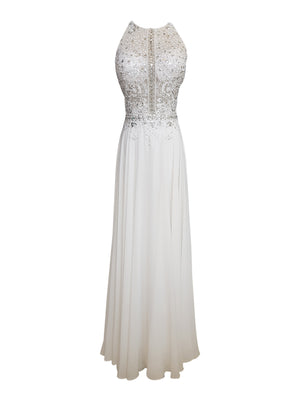 Embellished Mesh Sleeveless Gown