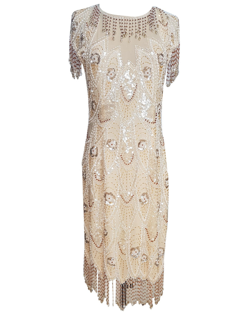 Champagne Tassel Gatsby Dress