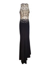 Halter Crystal Embellished Gown