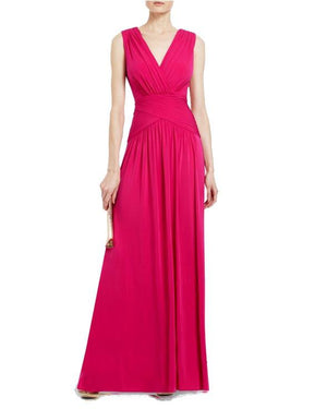 V-Neck Jersey Gown by BCBG - Rent or Buy It at Covetella