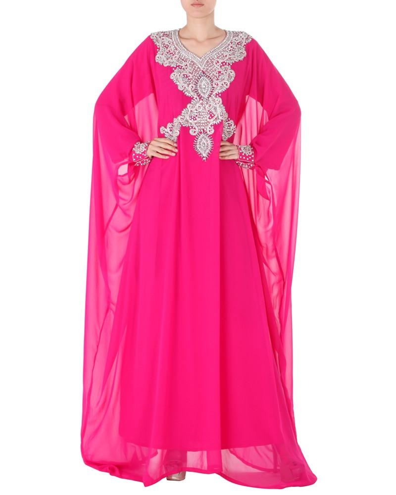 Ethnic Jeweled Floor Length Kaftan by Abdul - Rent or Buy It at Covetella