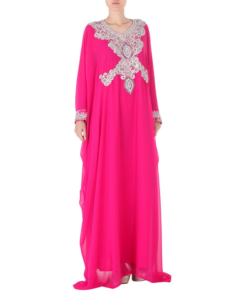 Ethnic Jeweled Floor Length Kaftan - Abdul - Covetella Dress Rentals