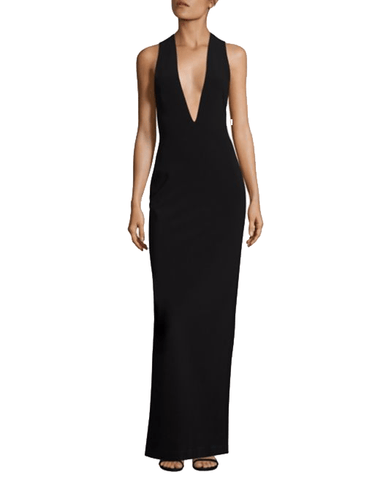 Plunging V-Neck Gown - Solace London - Covetella Dress Rentals