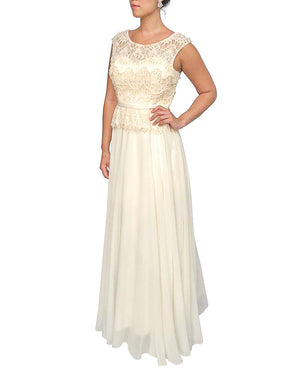 Sleeveless Overlay Gown
