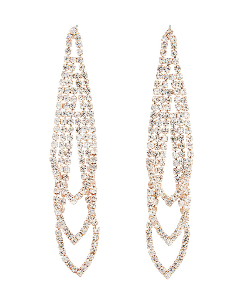 Cascading Rose Gold Earring
