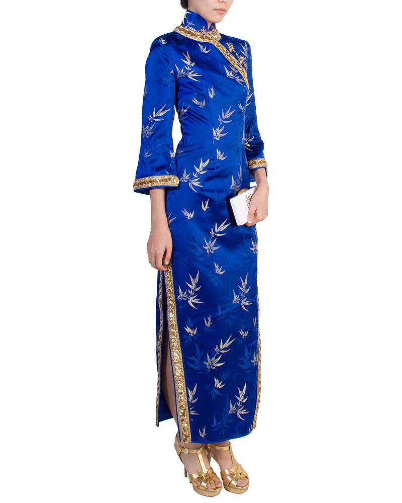 Empress Bamboo Cheongsam - Custom - Covetella Dress Rentals