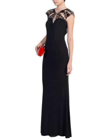 Beaded Keyhole Gown - Fabuluxe - Covetella Dress Rentals